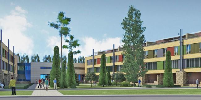 ВОмске неподалеку отПарка Победы начали строить гостиничный комплекс