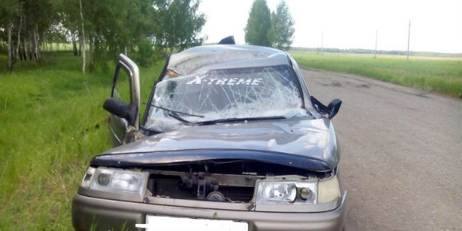 ВОмской области умер, опрокинувшись вкювет, шофёр Сан Йонг