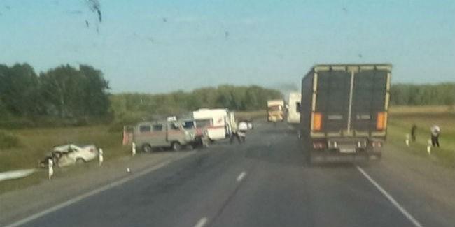 ВДТП натрассе Омск— Новосибирск погибли шесть человек