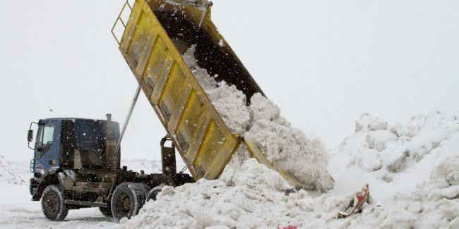 ВОмске талоны навывоз снега расходятся как горячие пирожки