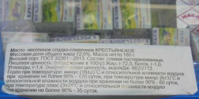 Омичей предупреждают отпокупки сливочного масла «СбытПродСервис»