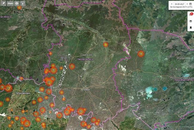 ВОмской области намесяц установили особый противопожарный режим